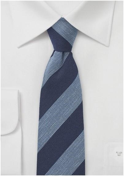 Narrow Wool Designer Tie