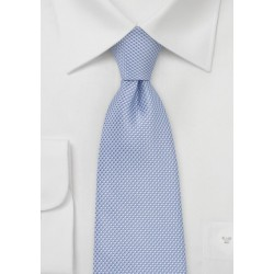 Grenadine Textured Kids Neck Tie in Baby Blue