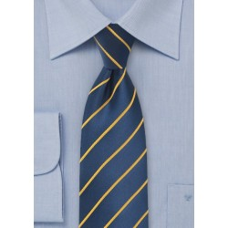 Dark Navy and Golden Yellow Kids Tie