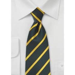 Midnight Blue and Golden Striped Kids Tie