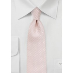 Blush Pink Pin Dot Tie