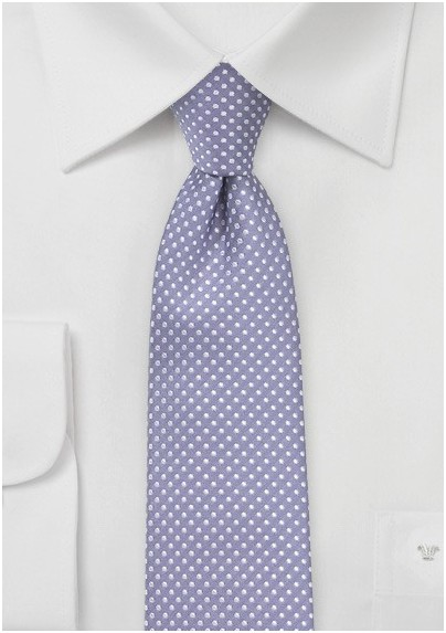 6d81d3109e4f Pin Dot Tie in Lilac Purple in Skinny Cut