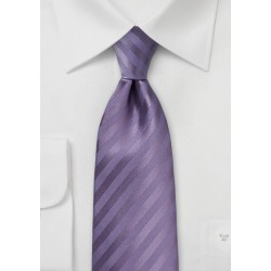 Solid Striped Tie in Grayed Lilac