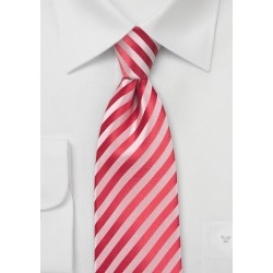 Striped Tie in Coral