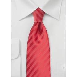 Striped Tie in Raspberry Pink