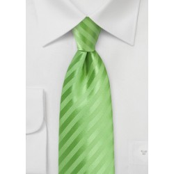 Solid Striped Tie in Midori Green