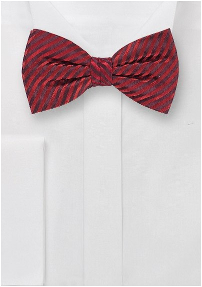c09ed1a5c964 Waled Textured Bow Tie in Cherry Red