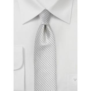 Formal Skinny Pin Dot Tie in Silver and Black