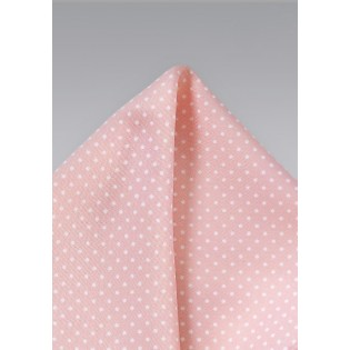 Pin Dot Pocket Square in Pink and White