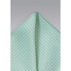 Mint Green Pin Dot Pocket Square