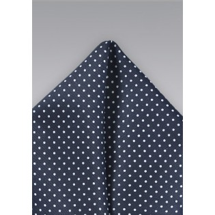 Midnight Blue Pin Dot Pocket Square