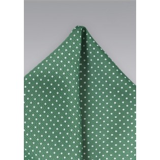 Hunter Green Dotted Pocket Square