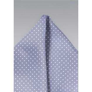 Pin Dot Pocket Square in Lilac
