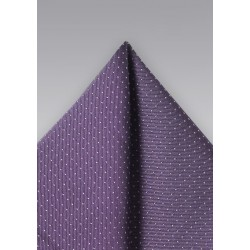 Grape Hued Silk Pocket Square