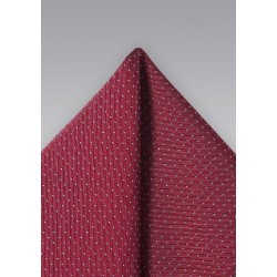 Cherry Red Pin Dot Pocket Square