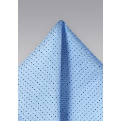Sky Blue and Navy Dotted Pocket Square