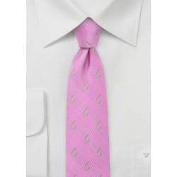 Pink Fishhook Skinny Tie