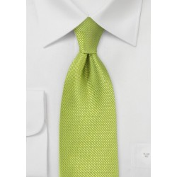 Bright Key Lime Kids Silk Tie