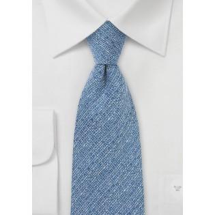 Barleycorn Wool Tie in Light Blue