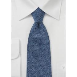 Cobalt Blue Barleycorn Textured Tie