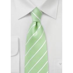 Summer Silk Tie in Pistachio and White