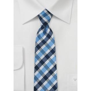 Summer Gingham Tie in Blues