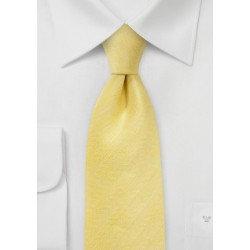 Herringbone Tie in Lemon