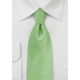 Herringbone Tie in Citrus Green