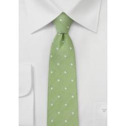 Spring Green Polka Dot Tie