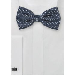 Dark Navy Pin Dot Bow Tie