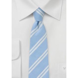 Linen Skinny Tie in Pale Blue
