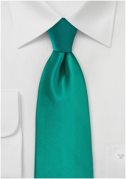 Jade Colored Necktie Made in XL Size