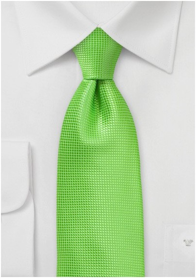 Bold Colored Tie in Tropical Green