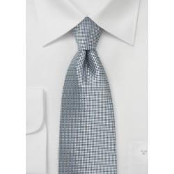 Trendy Necktie in Metallic Silver