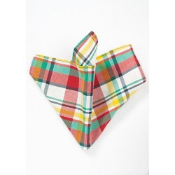 Colorful Madras Pocket Square in Cotton