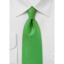 Bright Kelly Green Tie for Kids