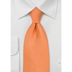 Apricot Orange Silk Tie for Kids