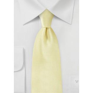 Kids Tie in Citrine Yellow