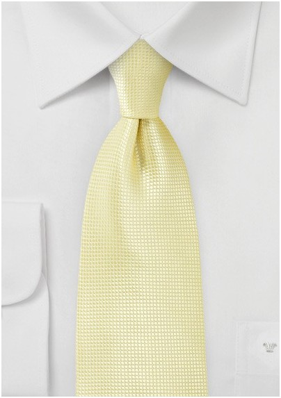 Extra Long Tie in Citrine Yellow