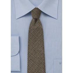 Winter Tweed Tie in Espresso Brown