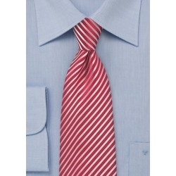 Bold Striped Tie in Punch Red