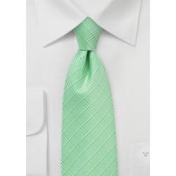 Pastel Green Plaid Necktie