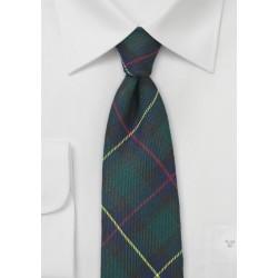 Flannel Plaid Necktie in Hunter Green