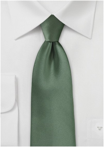 Olive Color Tie for Kids