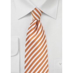 Elegant Summer Tie in Orange and White