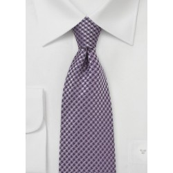 Micro Check Tie in Amethyst Purple