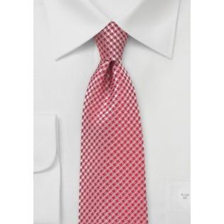 Dark Coral Red Necktie
