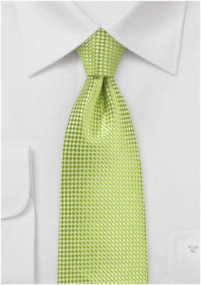Solid Textured Tie in Parrot Green