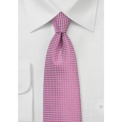 Vibrant Pink Mens Necktie