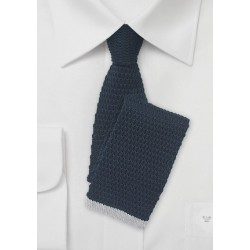 Navy and Light Gray Knitted Necktie